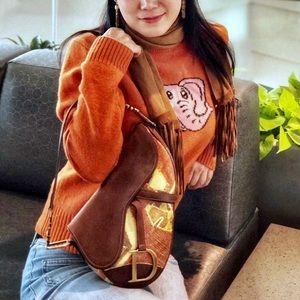 Lucky Brand elephant Wool Sweater Sz L